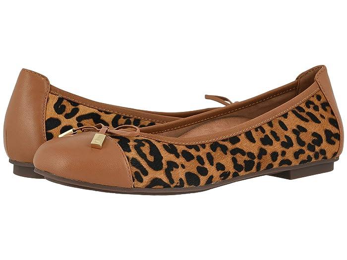 VIONIC  Minna (Tan Leopard) Womens Flat Shoes