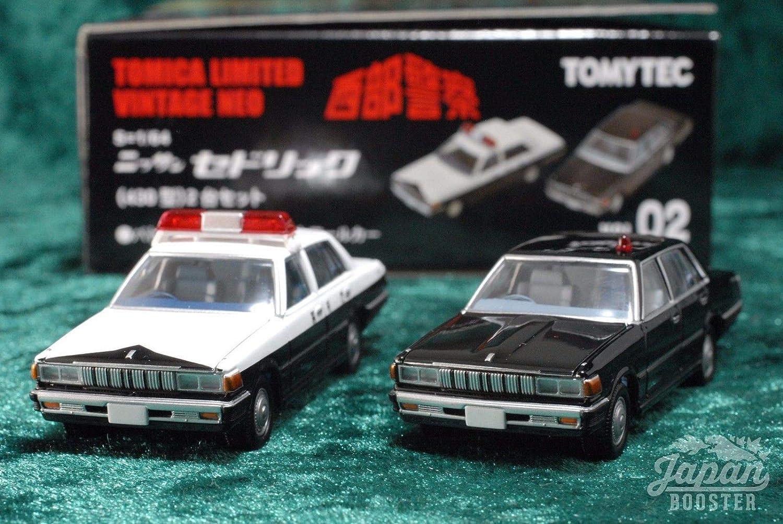 HERCHR Nissan ModellOrnamente, zwei nachgebildete Polizeiautos, black