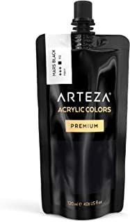 ARTEZA Acrylic Paint, Mars Black Color, (120 ml Pouch, Tube)