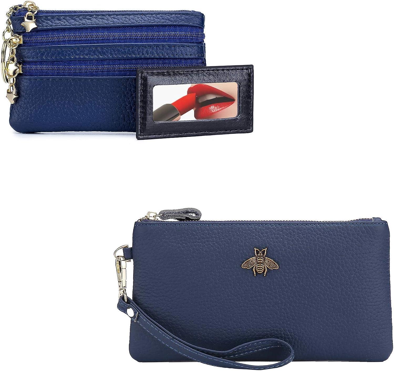 (Bundle of 2 Sets) imeetu Women's Wristlet Wallet and Coin Purse Change Pouch Wallet
