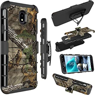 Galaxy J7 2018 Case, Galaxy J7 Refine Case, Zoeirc Armor Shock Proof Dual Layer Phone Cover with Kickstand & Belt Clip Holster for Samsung Galaxy J7 V 2nd Gen,Galaxy J7 Star,J7 Aero,J7 Top (camo)