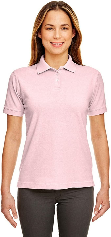 UltraClub 8530 Ladies Classic S-Sleeve Pique Polo Pink Medium