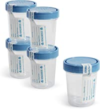 Medpride Disposable Specimen Cups| High-Grade Silicone, Sterile, Individually Wrapped Medical Cups W/Leakproof, Screw-On Lids & Tamper-Evident Seal| Urine, Fluid Sample Collection & More| 5-Pack