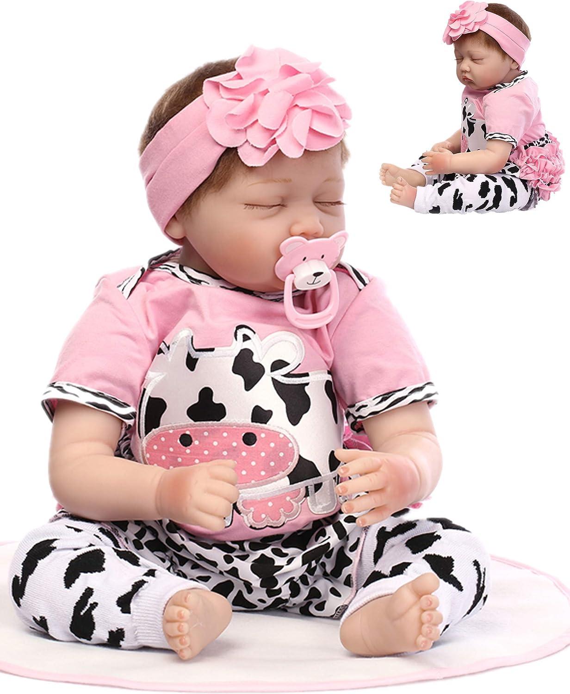 22 Inch Reborn Baby Dolls Superior Girls Handmade Sil Soft Vinyl Sleeping Now free shipping