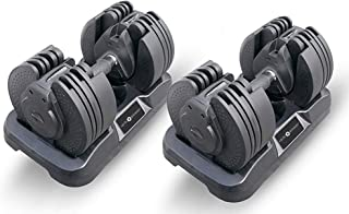 Powerball - Mancuerna Ajustable (20 kg máx.), tecnología de Mango Giratorio, 16 Diferentes Pesos posibles