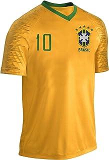 Blackshirt Company Brasilien Trikot Fußball Fan Trikot Gelb