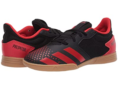 adidas Kids Predator 20.4 IN Sala J Soccer (Little Kid/Big Kid) (Black/Active Red) Kids Shoes