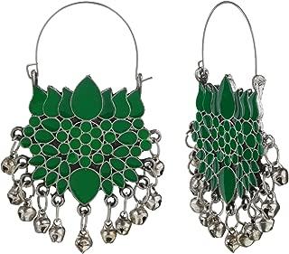 Efulgenz Indian Vintage Retro Ethnic Gypsy Oxidized Boho Dangle Drop Jhumka Jhumki Afghani Earrings for Girls and Women Love Gift
