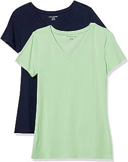 Women's 2-Pack Classic-Fit Short-Sleeve V-Neck T-Shirt