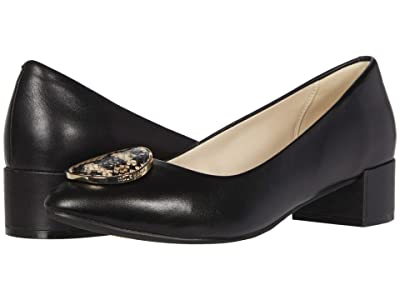 Cole Haan Nala Pump WP (35 mm) (Black Leather/Amphora Exotic Snake Print Leather/Black) Women