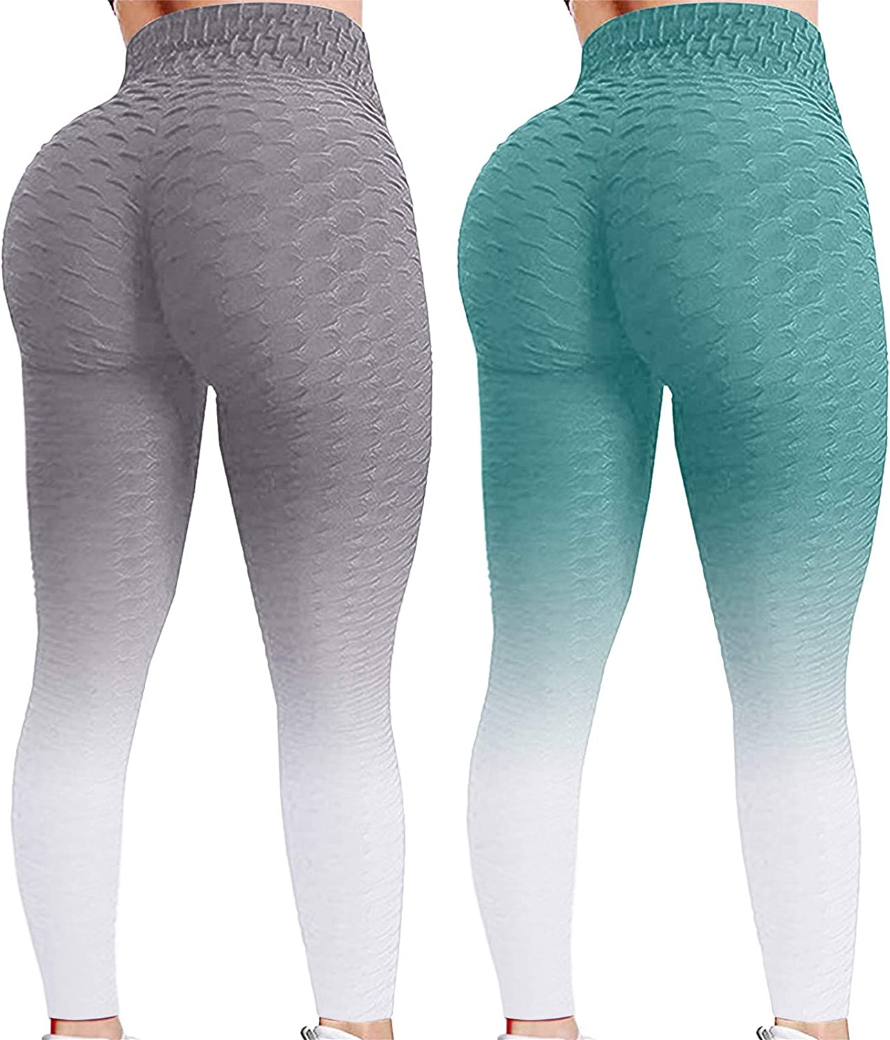 Yoga Pants for Women 2 Pack Leggin Bubble Max Direct store 53% OFF Lifting Hip Waist High
