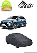 MotRoX 100% Waterproof Car Body Cover for Hyundai i20 Active (American Dark Grey-with Mirror Pocket and Piping)
