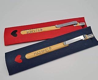 Coppia di penne personalizzabili, lui e lei San Valentino