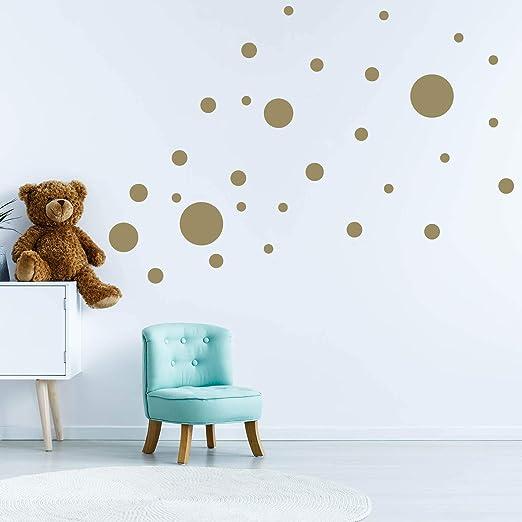 32 Kreise Set Punkte Wandtattoo Wandaufkleber Sticker Aufkleber Rund Himmel Gold Amazon De Kuche Haushalt