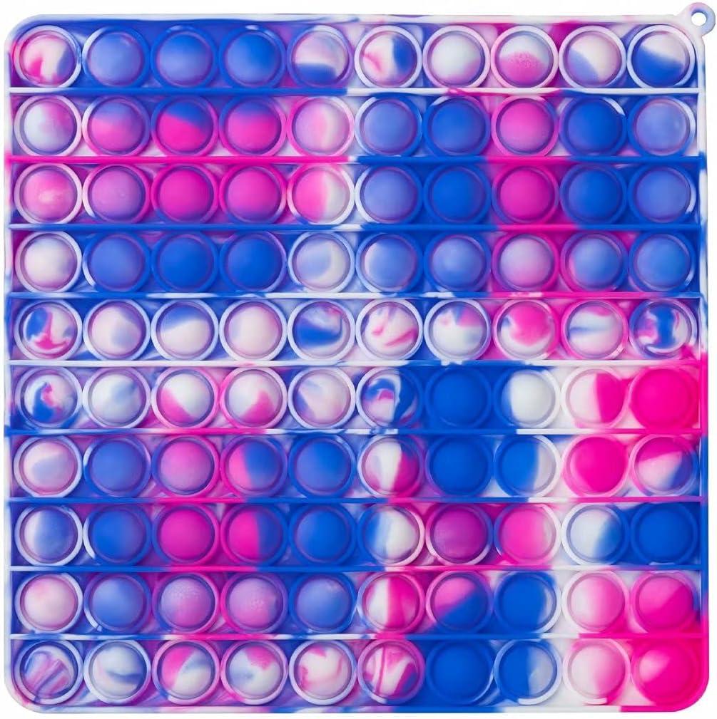100 Bubbles Jumbo Pop Big Size Fidget Toys Pop Push Sensory Toys