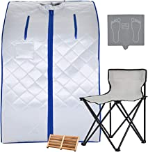 KUPPET Portable Infrared Home Spa, Infrared Portable Sauna, with Heating Foot Pad and..