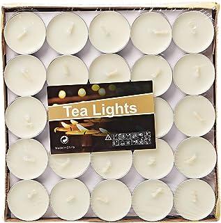 شموع شاي 100 قطعة - ابيض