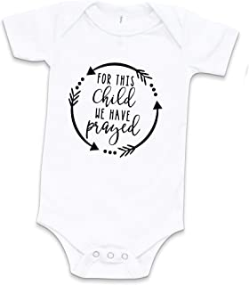 Cozy Bear Boutique for This Child We Have Prayed Baby Bodysuit Worth The Wait Newborn Outfit Pregnancy Announcement Baby Bodysuit White