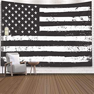 Leacape Tapestry Wall Hanging, 80x60 Inches for Home Art Décor Black White USA American Flag Living Room and Bedroom Decoration Huge Tapestry with Beautiful Design,Orange Green