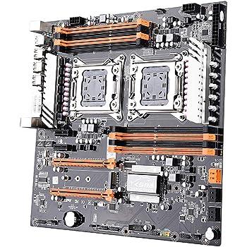 KKmoon デュアル CPU マザーボード LGA2011 SATA3.0 E-ATX M.2 256G DDR3 メインボード