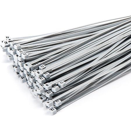 100 Stück Kabelbinder 300mmx3 6mm Für Zaun Schattiernetze Zaunblende In Silber Garten