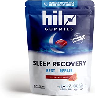 Hilo Sleep Recovery Melatonin Gummies - 60 Servings, All Natural Sleep and Muscle Recovery Gummies with Melatonin, Chamomi...