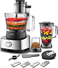 Black+Decker 880W 4-in-1 Food Processor, Blender, Grinder and Dough Maker with 31 Functions, Silver/Black - FX1050-B5, 2 Y...