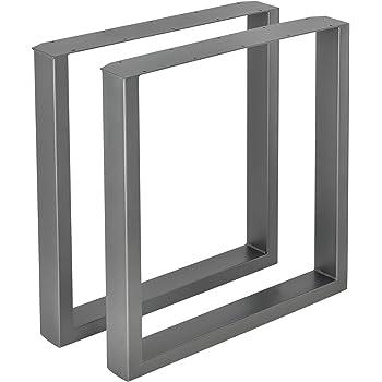 Noir Fonc/é Cadre 40x43 cm HLT-01-A-BB-9005 HOLZBRINK 1x Pied de Table en Profil/és dAcier 100x20 mm