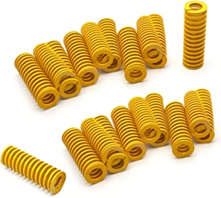 DGQ 20 Pack 8mm OD 20mm Long Light Load Compression Mould Die Spring Yellow