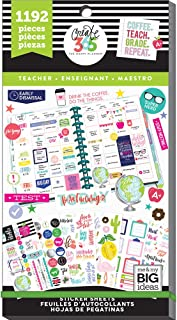 me & my BIG ideas Sticker Value Pack for Classic Planner - The Happy Planner Scrapbooking Supplies - Teacher Theme - Multi-Color - Great for Projects & Albums - 30 Sheets, 1192 Stickers Total