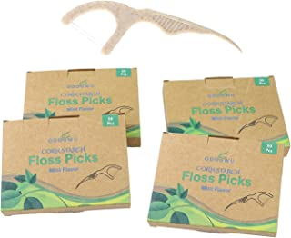 Corn Starch Dental Floss Picks (200 Count),Eco Friendly,Sustainable,Zero Waste