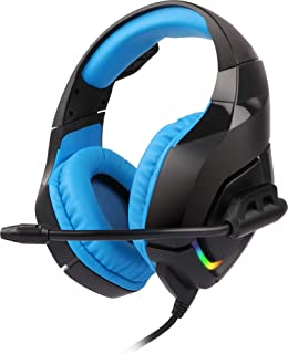 Zebronics Zeb-Rush Premium Gaming Headphone with RGB Lights and 40mm Neodymium Drivers (Blue)