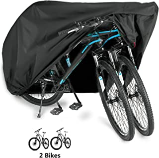 WAEKIYTL Bike Cover Waterproof Outdoor XL XXL Bicycle Cover for 2 Bikes Oxford Fabric Rain Sun UV Dust Wind Proof Motorcycle Covers for Mountain Road Electric Bike Tricycle Cruiser