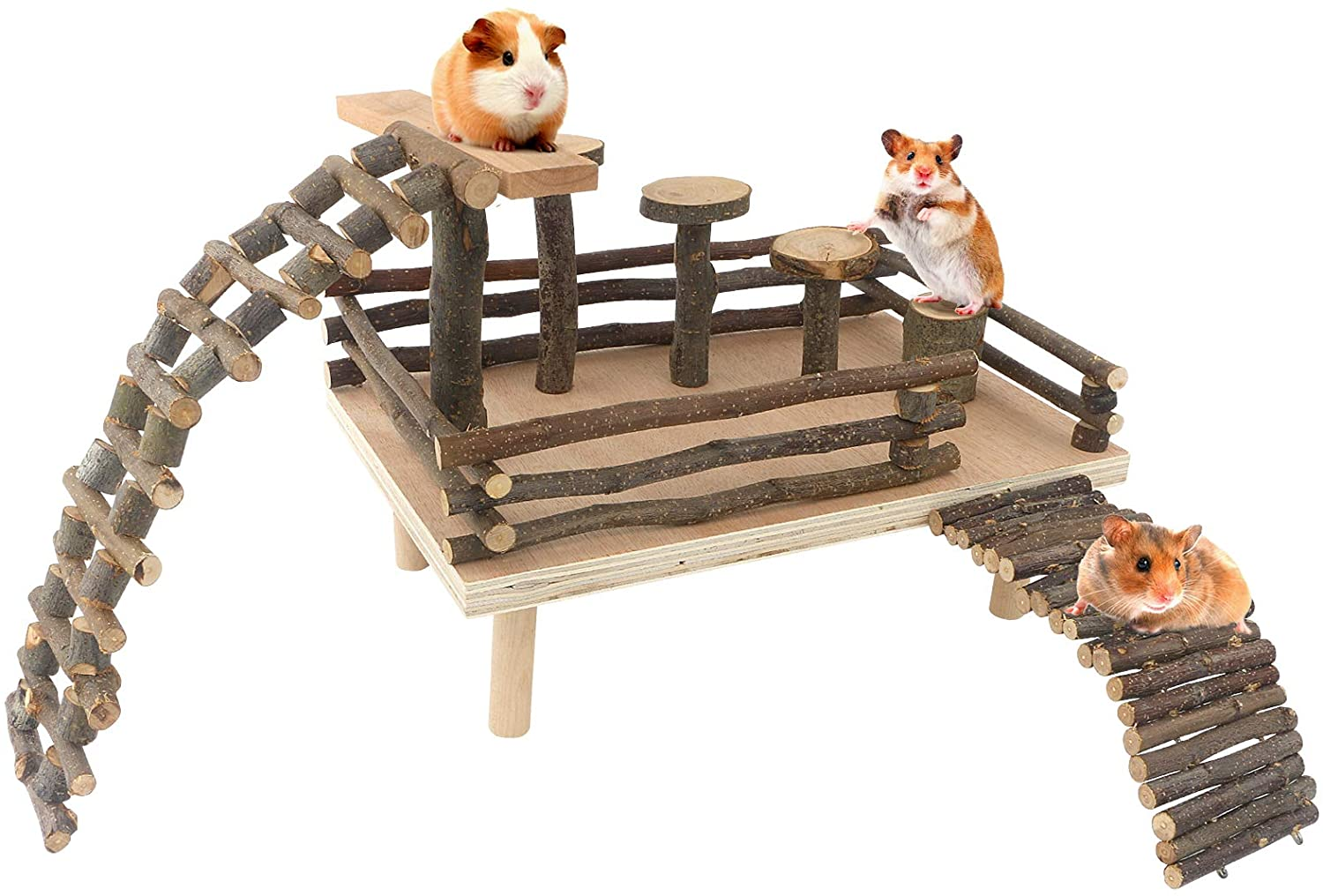 HOSUKKO Hamster Guinea Pig Climbing Wooden Max latest 49% OFF Toys Playing