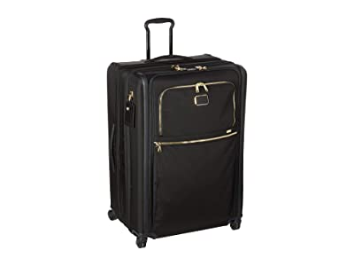 Tumi Alpha 3 Extended Trip Expandable 4 Wheeled Packing Case (Black/Gold) Luggage