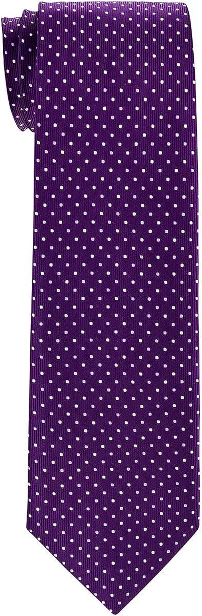 Retreez Dual Color Mini Polka Dots Woven Boy's Tie - 8-10 years