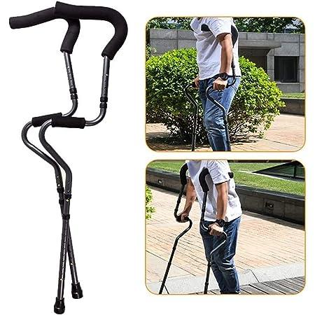 松葉杖杖調節可能で折りたたみ式脇の下、身長調節可能な人間工学的ハンドル、滑り止め付きフットレスト(大人用)、脇の下骨折、高齢者用肘(1つ注文し、実際には4つの松葉杖を含む2つのペアを出荷します)