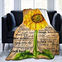 WONDERWON Super Soft Light Weight Fuzzy Throw Blanket Summer Quilt Sunflower to My Beautiful Daughter 2 for Bed Couch Sofa...