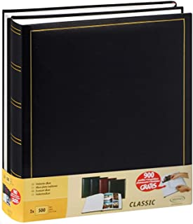 Lot de 2 albums traditionnels jumbo 100 pages pour 500 photos 10x15 - Noir