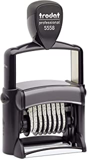Trodat Professional Numberer, 8 Digit Self-Inking Numbering Stamp, 3/8 x 2 1/4 Inches (T5558)