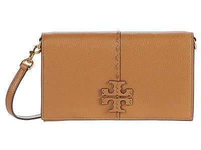 Tory Burch McGraw Wallet Crossbody (Tiramisu) Handbags