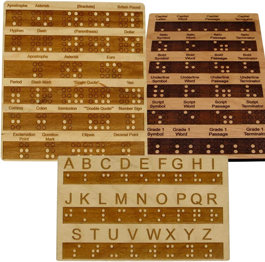 Creative Escape NEW before selling ☆ Rooms Wood Braille Teaching Learning and S Board Washington Mall