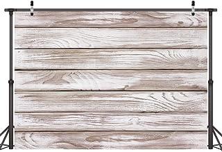 LYWYGG 7x5FT Color Gris Claro Piso de Madera Fotografía Telón de Fondo Accesorios de Estudio Ideal para Bodas Fiestas Recién Nacidos Niños Y Fotografía de Producto CP-178