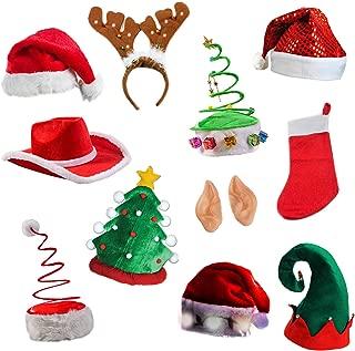 Tigerdoe Christmas Party Supplies - Christmas Photo Booth Prop - Christmas Costume Accessories - Christmas Headbands