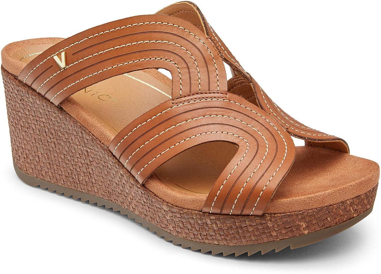 Vionic Malorie Women's Platform Supportive Sandal Tan - 12 Medium