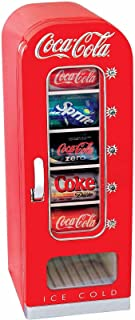 Ocimocylo Coke Retro Vending Machine Mini Fridge Red Coca Cola 10 Can Soda Refrigerator ;#by:lopez316t