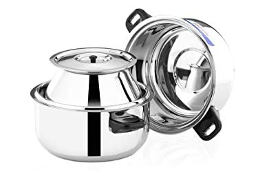 Butterfly Stainless Steel Double Delight Cook and Serve Pot, Thermal Rice Cooker, 1.5 kg, Silver