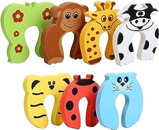 Baby Finger Pinch Guard, 7-Pack Cartoon Animal Foam Door Slam Stopper Baby Finger Protector, Child Proof Baby Proof Produc...