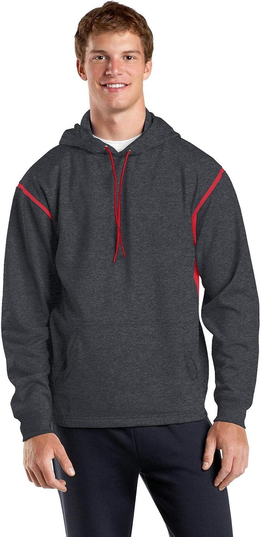 SPORT-TEK Men's Tall Tech Fleece Colorblock Hooded Sweatshirt