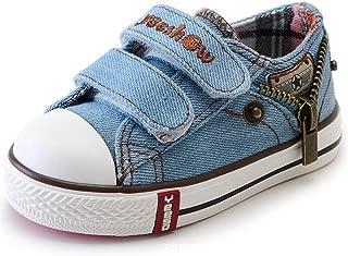 Les Enfants Toile Baskets Printemps et Automne Confortables gar/çons et Filles de la Mode Toile Respirante Non Slip Chaussures de Sport d/étudiant Plat